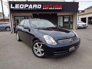 2004 Infiniti G35X Awd, Leather, Sunroof, Low Km*No Accident*