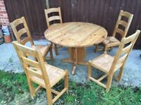 Quality Large Solid Wood Kitchen Table with Chairs