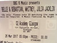Bell and Sebastian tickets 02 Academy tonight