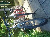 """Saracen Xray 26"""" Black & FS.26 Apollo Red/Silver Cycle Bikes."""