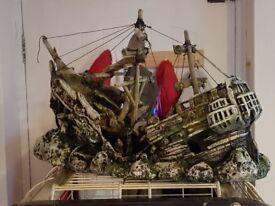 Large fish tank ornament shipwreck
