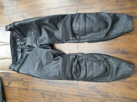 Scott men's leather motorcycle trousers