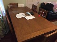 6 Chair Australian Oak Dinner Table for sale