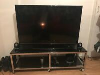 "43"" TV (Cracked Screen) With Tv Stand"