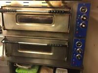Electric Double decker Pizza Oven, single/three faze £100