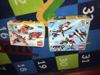 2 new in box never used Lego sets