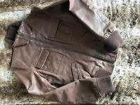 Vila 100% genuine leather jacket size M in very good condition