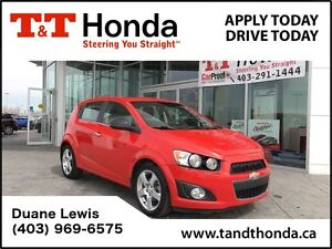 2014 Chevrolet Sonic LT *Low KM'S, One Owner, Bluetooth
