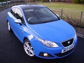 Seat Ibiza Sport Coupe , Rare Azul Galia Blue , Pan Roof