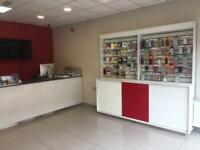 Display units, counter, shop fittings