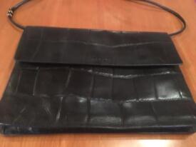 Black leather Radley briefcase