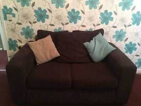 Two seater sofa x 2 good condition