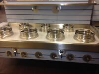 CHINESE WOK COOKER, NEW, 4+3 CHOICE OF BURNERS, LPG OR NATURAL GAS 7 BURNER £3300