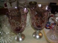 LARGE CANDLE HOLDERS OR VASES