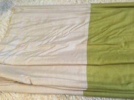 Lovely Laura Ashley Natural & Green Stripe Roman Blind 130cm w