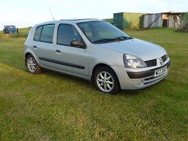 2003 Renault Clio Expression 1.2 16v 12 months mot 4Door
