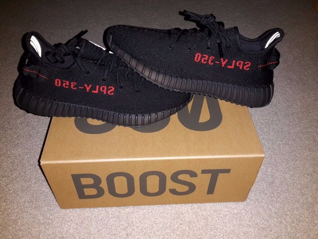 Adidas Yeezy Boost 350 V2 Black / Red - Bred UK Size 7 - 7.5 -
