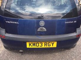 Vauxall Corsa 2003 blue