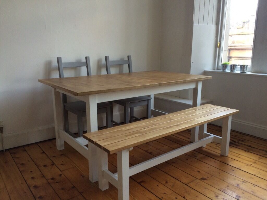 Ikea norden extendable dining table norden bench and 2 chairs in stockbridge edinburgh gumtree Dining bench ikea