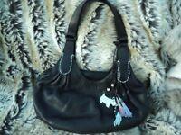 Designer Radley black leather handbag mint condition inside and out