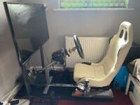 Playseat gaming steering wheel setup