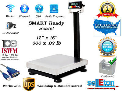Smart Ready Bench Scale With Cap Of 600 X .02 Lb With Rs-232 Port Ups