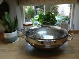 As new wok and steamer