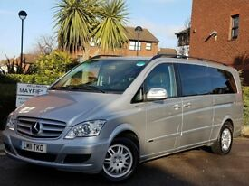 2011 MERCEDES VIANO 2.2 CDI LWB 8 SEATER AUTOMATIC-TIP FACE LIFT MODEL WITH PCO