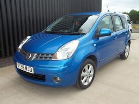 2008 (58) Nissan Note 1.4 16v Acenta 5dr 1 Previous Owner 2 Keys Full History, May Px