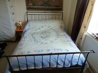 Victorian Style Iron Double Bed Frame and Sprung Slatted Base 2nd hand