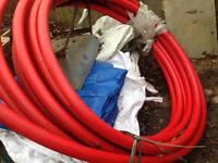 Electrical mains duct and 25mm water pipe
