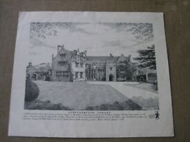 Vintage Print Unframed Of Athelhampton House Weymouth
