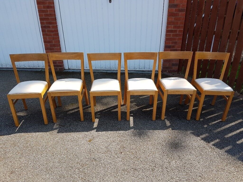Ikea Extending Bjursta Birch Table 6 Solid Oak Suede Chairs Free Delivery 061 In Leicester Leicestershire Gumtree