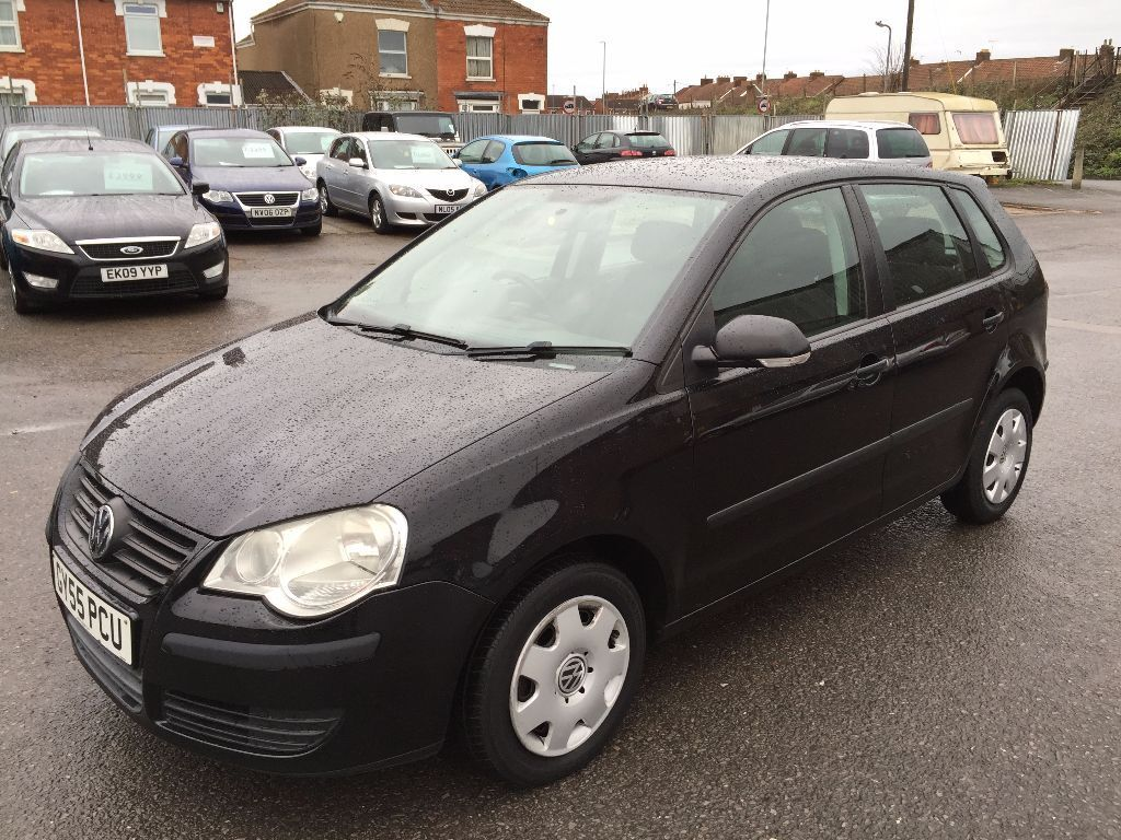 vw polo 2005 black 1 2 petrol manual very tidy car low mileage long mot in bridgwater. Black Bedroom Furniture Sets. Home Design Ideas