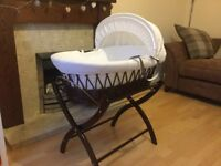 Izziwotnot Moses Basket and Stand.
