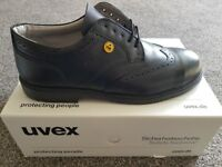 UVEX BROGUE S1 ESD SAFETY SHOE 9541/4 SIZE 11 (46). * BRAND NEW IN BOX*