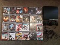 Sony PS3 PlayStation 3 Slim 250GB Console, 2 Controllers and 24 Games