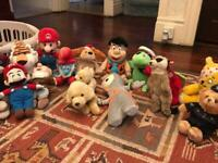 Bundle of 15 medium sized stuffed toys