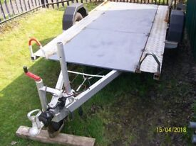 large trailor braked with ramps ideal for large quads off road bugies or flatbed