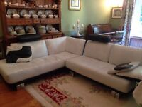 A Stunning Contemporary Corner Leather Sofa