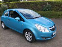 2011 VAUXHALL CORSA 1.2 ENERGY 3 DOOR BLUE 77k LONG MOT IDEAL FIRST CAR