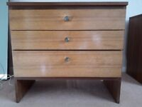 1960's teak chest of drawers
