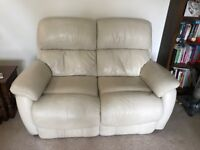 DFS Navona Leather reclining sofa and chairs