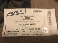 Opeth Ticket Bristol 02 Academy 21 November