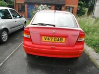VAUXHALL 2.0 dti ASTRA,2000,v,reg,red,stood for many years due to owners epilepsy,not used,gonedull