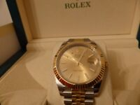 Rolex Datejust 126333 New 41MM Model Steel and 18 Carat yellow Gold , Genuine Rolex