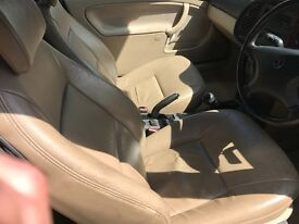 Saab 93 convertible cream leather seats and door cards