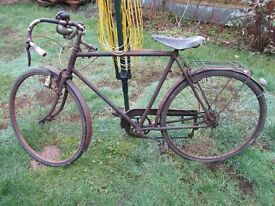 Vintage Gents Antique Bicycle, Early Derailleur, Collectable, Original, Rides