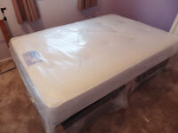 Luxury Memory Foam Mattress and Leather Base DOUBLE NEW UNOPENED