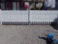 wrought iron railings / driveway / wall toppers / garden / metal fence / steel fence / patio / yard